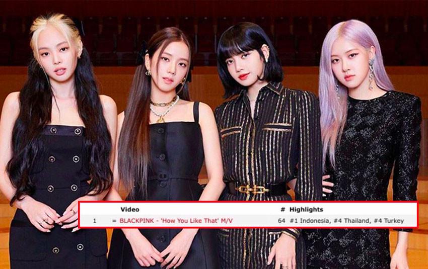 """BlackPink vẫn trụ ở vị trí top 1 trending trên nhiều nước sau 6 ngày ra mắt MV """"How you like that"""""""