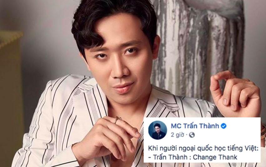 Cười nghiêng ngã khi xem Trấn Thành gọi tên loạt sao Việt theo cách chuyển ngữ sang tiếng Anh