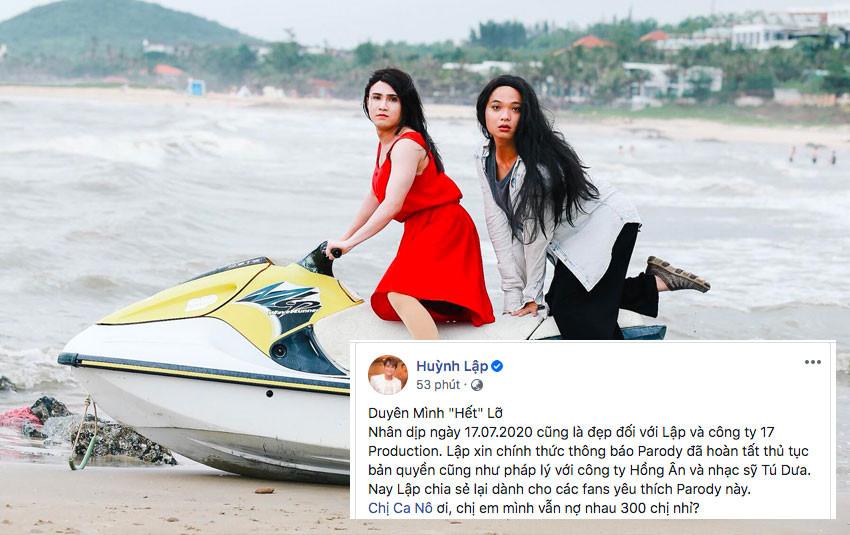 """Hoàn tất thủ tục bản quyền, parody """"Duyên mình lỡ"""" của Huỳnh Lập chính thức trở lại kênh Youtube"""