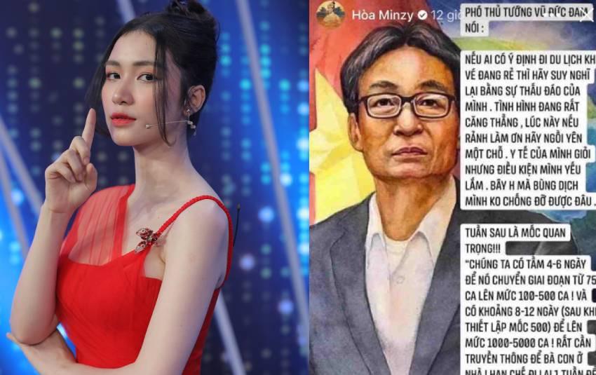 Hòa Minzy lại dính thị phi vì lan truyền thông tin sai lệch về phát ngôn của Phó Thủ Tướng