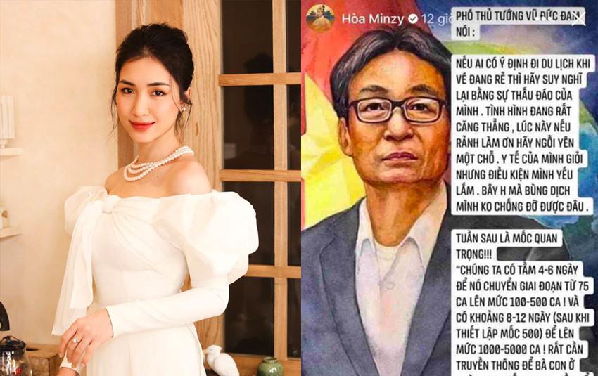 Hoà Minzy chính thức xin lỗi, giải thích vụ lan truyền tin giả lời Phó Thủ tướng Vũ Đức Đam