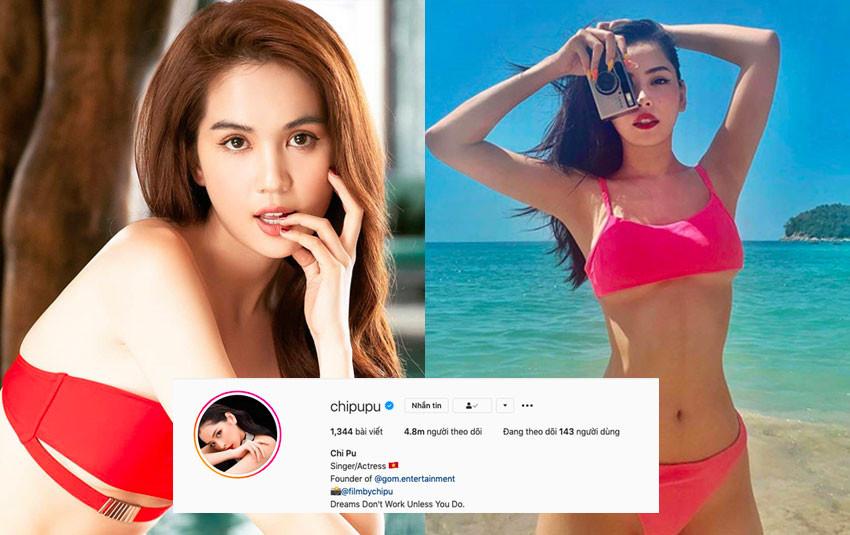 """Chưa đầy 1 ngày, số followers của Chi Pu đã đuổi kịp Ngọc Trinh trên """"đấu trường"""" Instagram"""