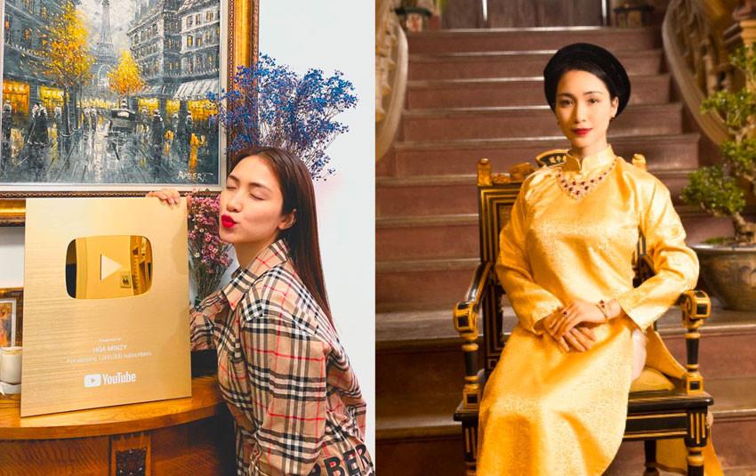 """Dốc hết tiền túi làm MV mới, Hòa Minzy """"gặt trái ngọt"""", đón nút vàng Youtube về kênh của mình"""