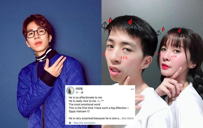 CDM xôn xao chuyện ViruSs nói lời tán tỉnh hotgirl người Hàn sau khi chia tay bạn gái