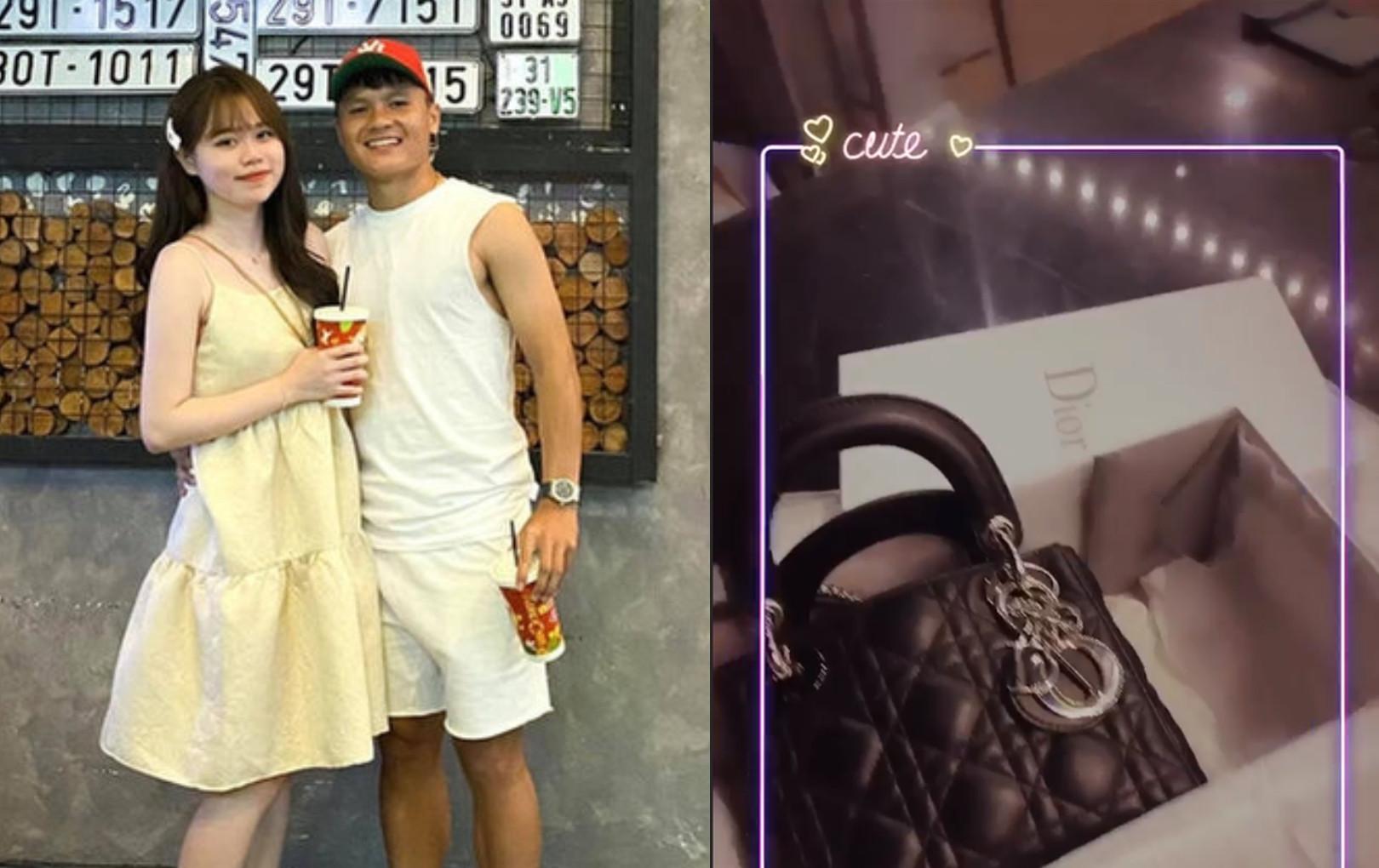 Quang Hải mua túi hàng hiệu gần trăm triệu tặng Huỳnh Anh