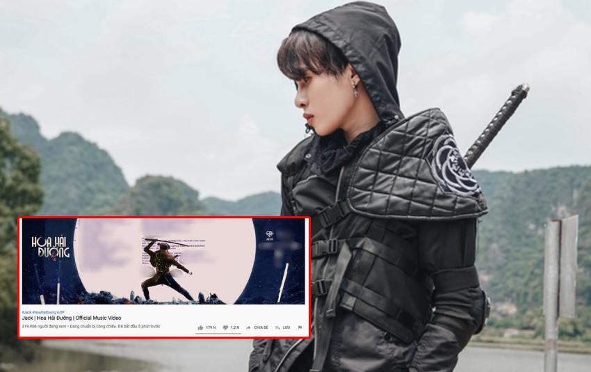 MV mới giúp Jack phá kỷ lục lượt xem công chiếu của chính mình nhưng lại thua thành tích của Sơn Tùng