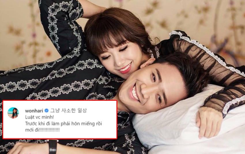 """Hari Won lần đầu tiết lộ """"luật vợ chồng"""" với Trấn Thành khiến fan ghen tị"""