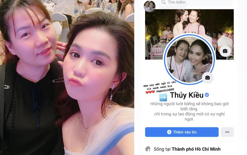 Trợ lý của Ngọc Trinh nhận được tick xanh Facebook, còn ai xịn xò bằng Thúy Kiều!