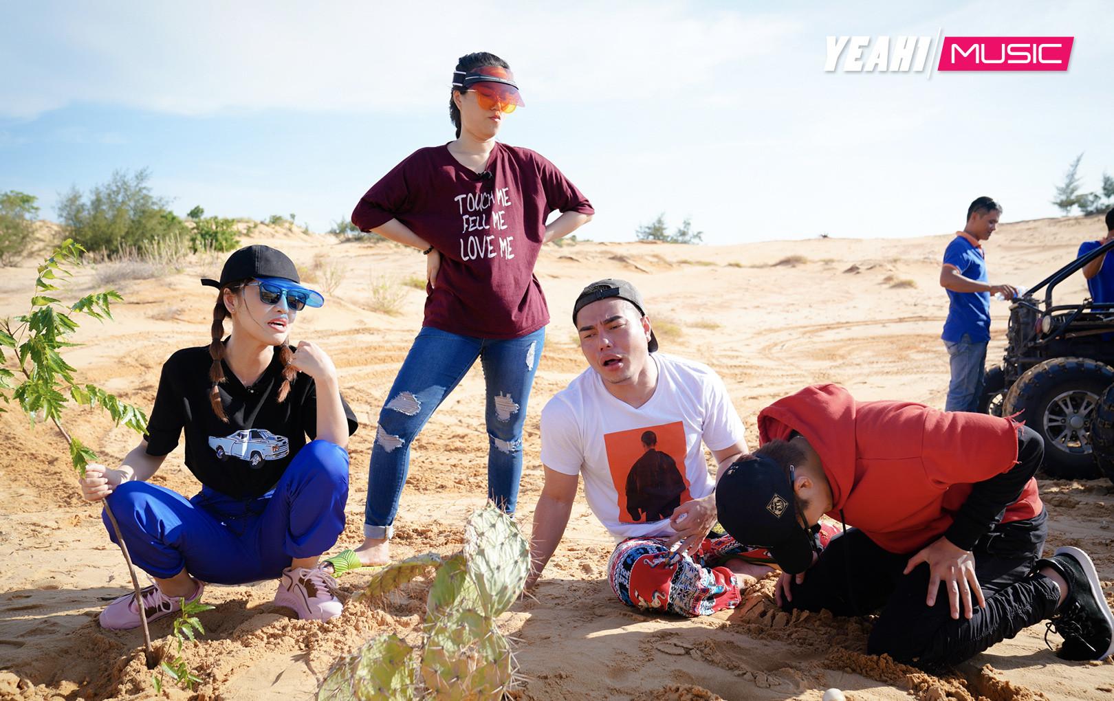 Dương Lâm, Puka khóc lóc sợ hãi, Gin Tuấn Kiệt ói ngay tại chỗ khi  trải nghiệm xe vượt địa hình