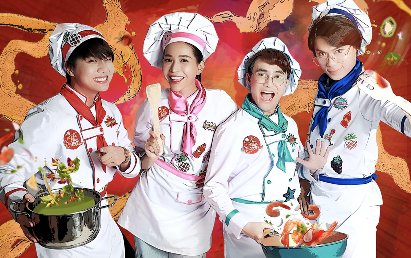 Bộ tứ ẩm thực vui nhộn trở lại với đội hình Khả Như, Huỳnh Lập, Quang Trung, Duy Khánh