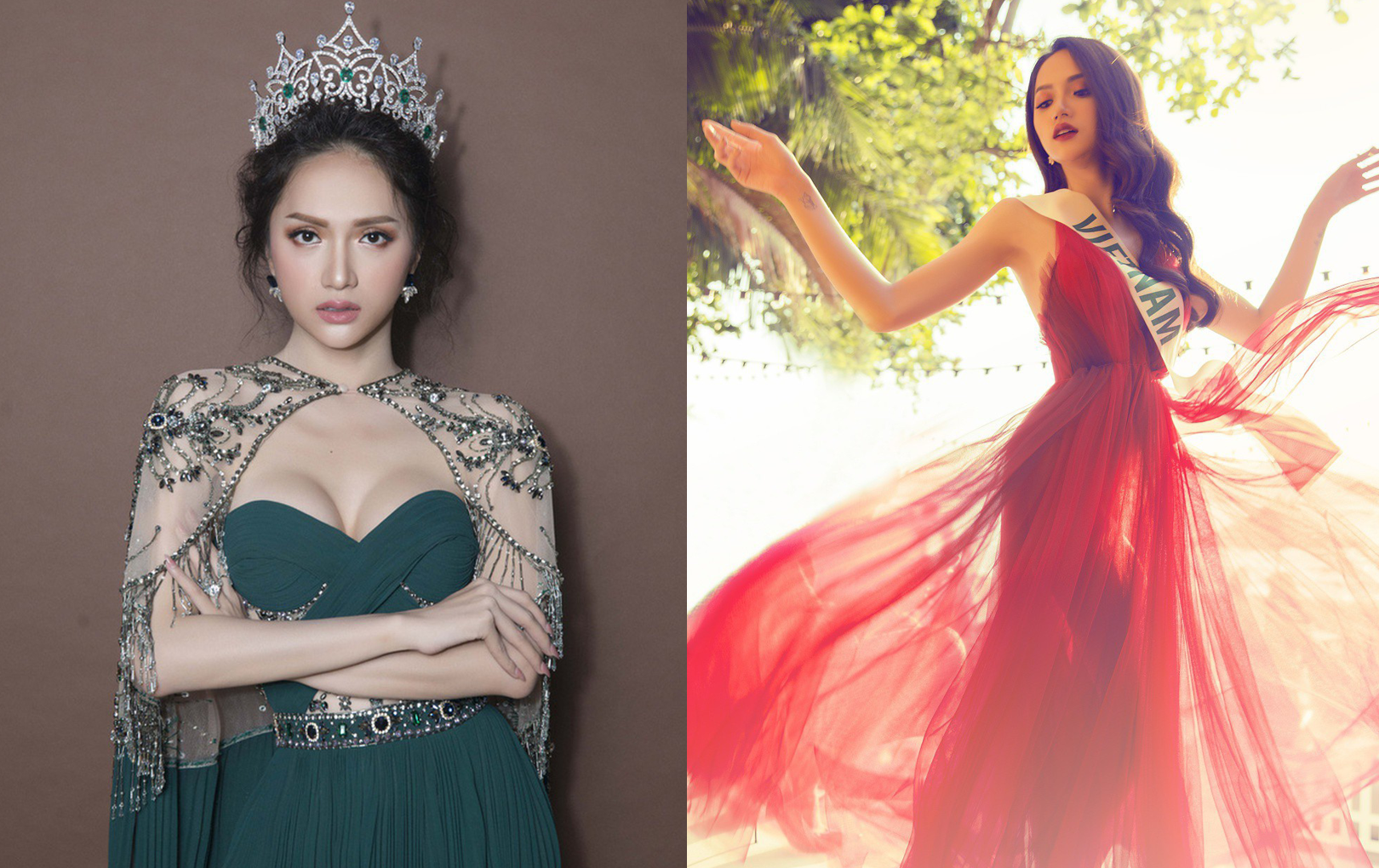 """Góc quê độ: Fan Hương Giang vào """"cà khịa"""" trong ảnh của Hoa hậu Chuyển giới 2019, liền bị nàng hậu """"phản dame"""" cực gắt"""