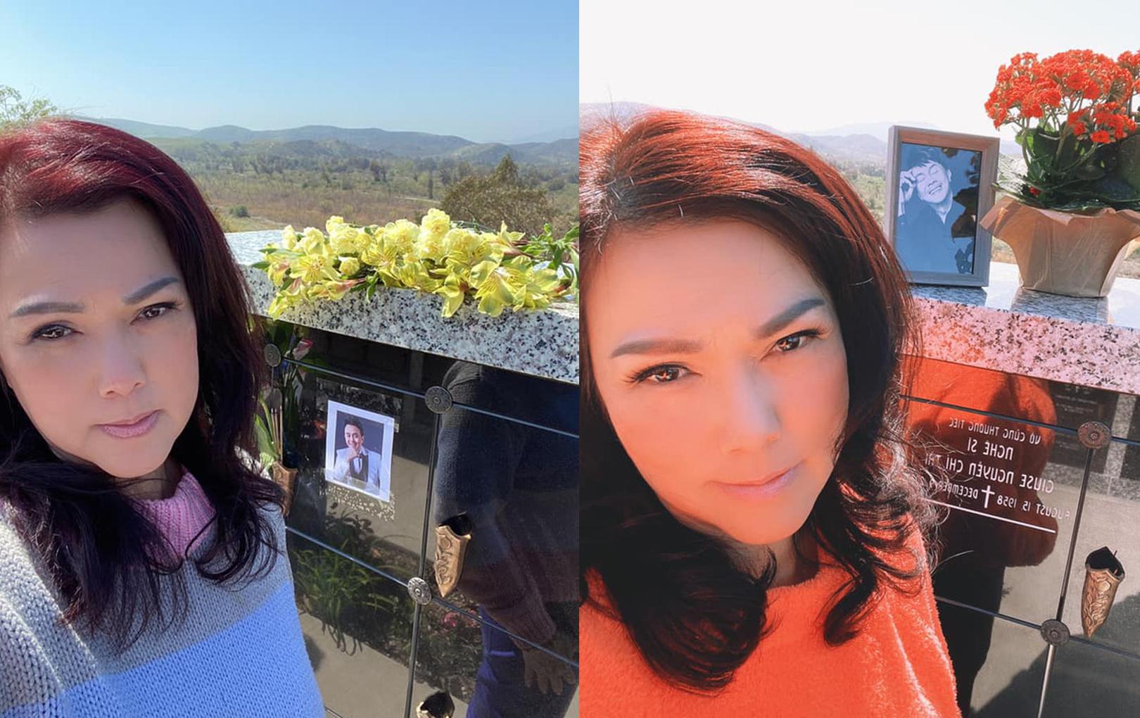 Chị Bé Heo tiết lộ điểm thay đổi trên mộ phần cố NS Chí Tài sau 4 tháng