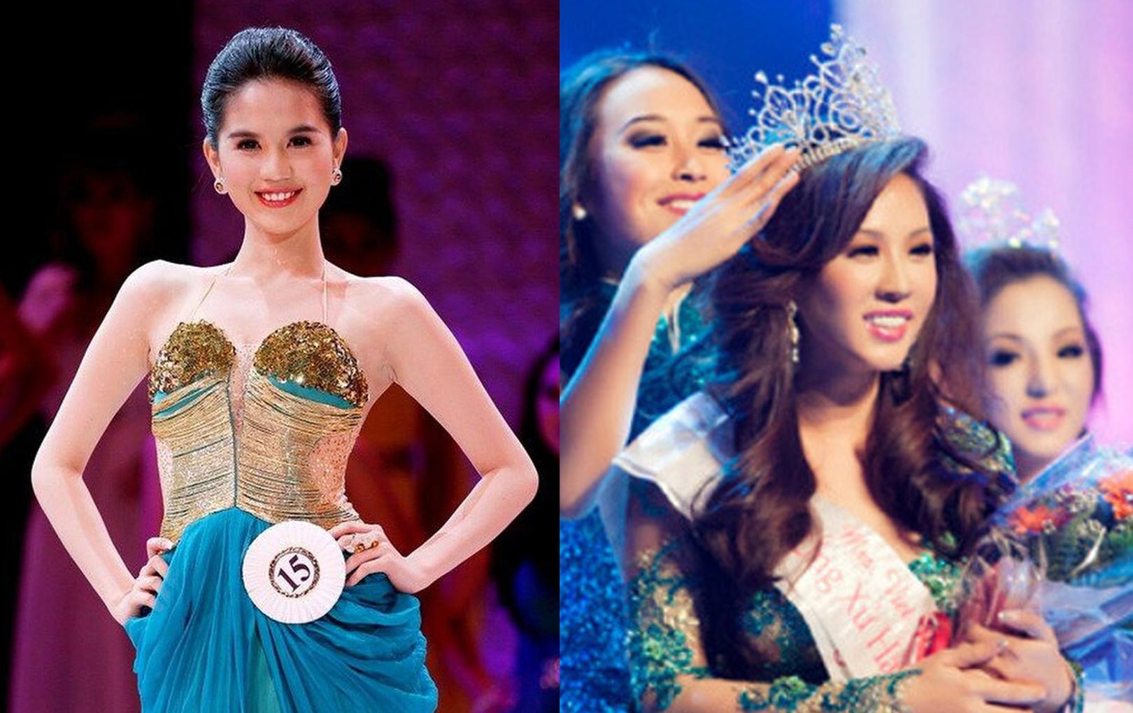 Ngọc Trinh bất ngờ bị 'đào lại' quá khứ đăng quang Hoa hậu, netizen đặt nghi vấn độ tin cậy vì 1 chi tiết giống với Thu Hoài