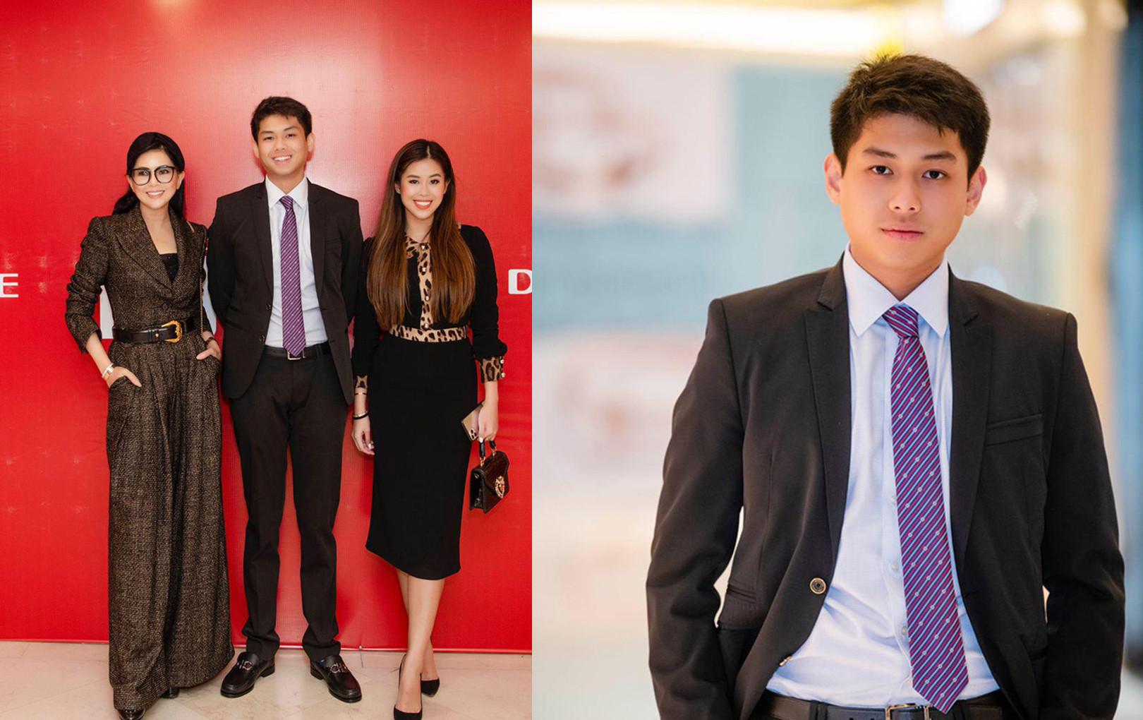 Cả gia đình tỷ phú Johnathan Hạnh Nguyễn dự sự kiện, Tiên Nguyễn - Hiếu Nguyễn chiếm hết spotlight của 2 anh trai đình đám