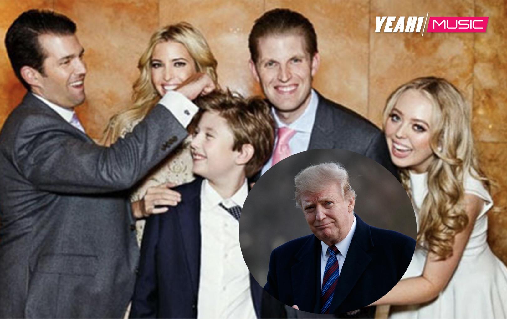 """Lý do các con của Donald Trump thành tài dù được """"ngậm thìa vàng"""" mà lớn"""