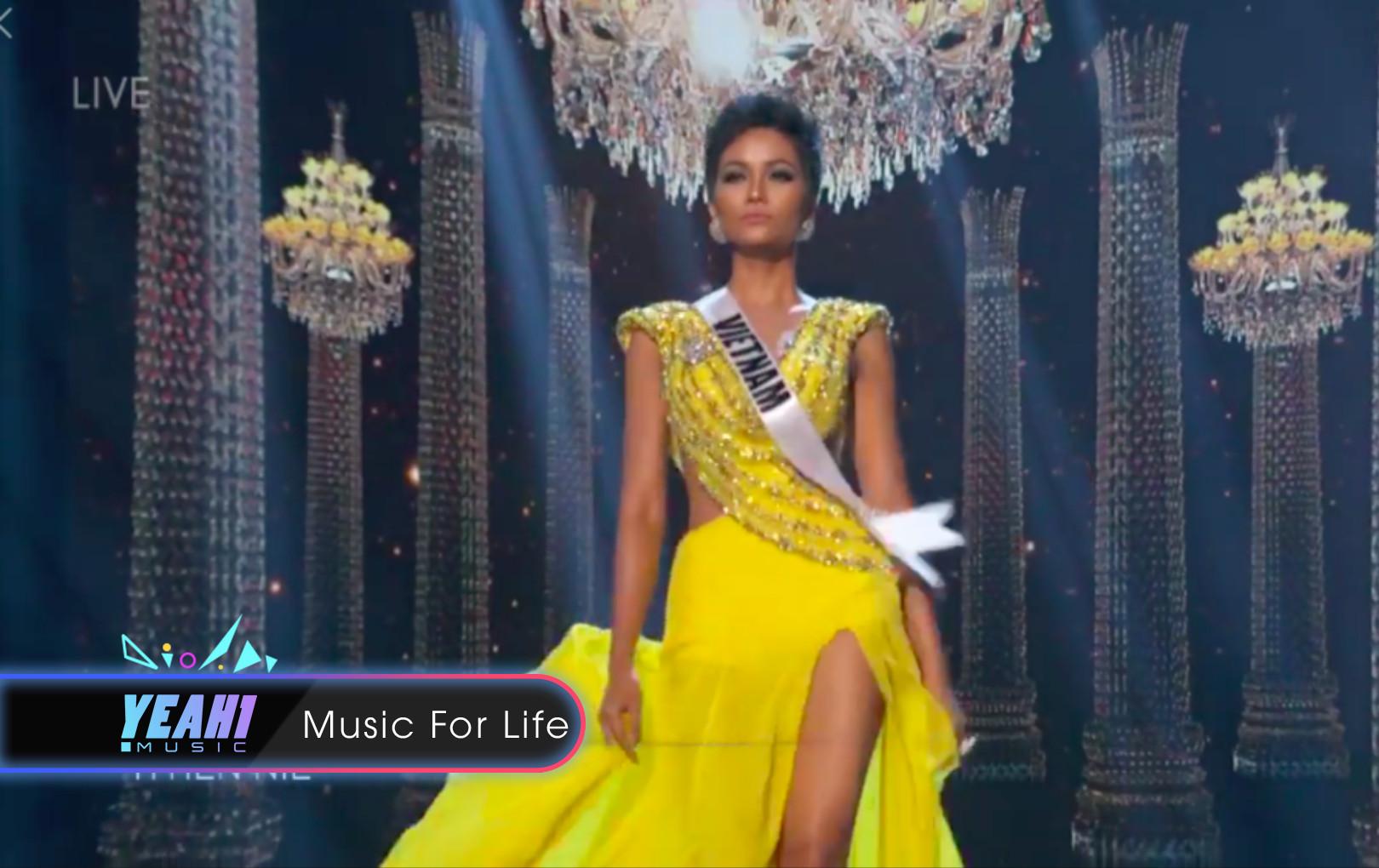 """H'Hen Niê tỏa sáng với màn hất váy, xoay người """"thần thánh"""" ở đêm bán kết Miss Universe 2018"""