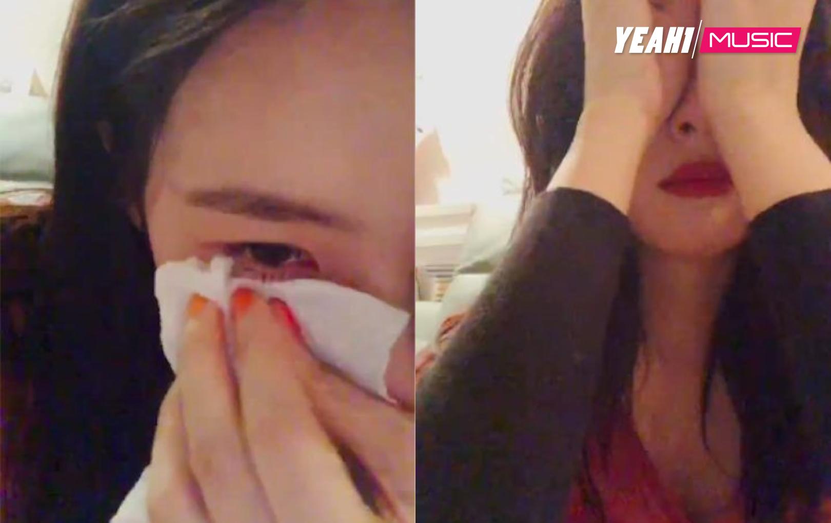 Khóc nức nở không rõ lý do khi đang livestream, Sunmi khiến fan phát sốt vì lo lắng