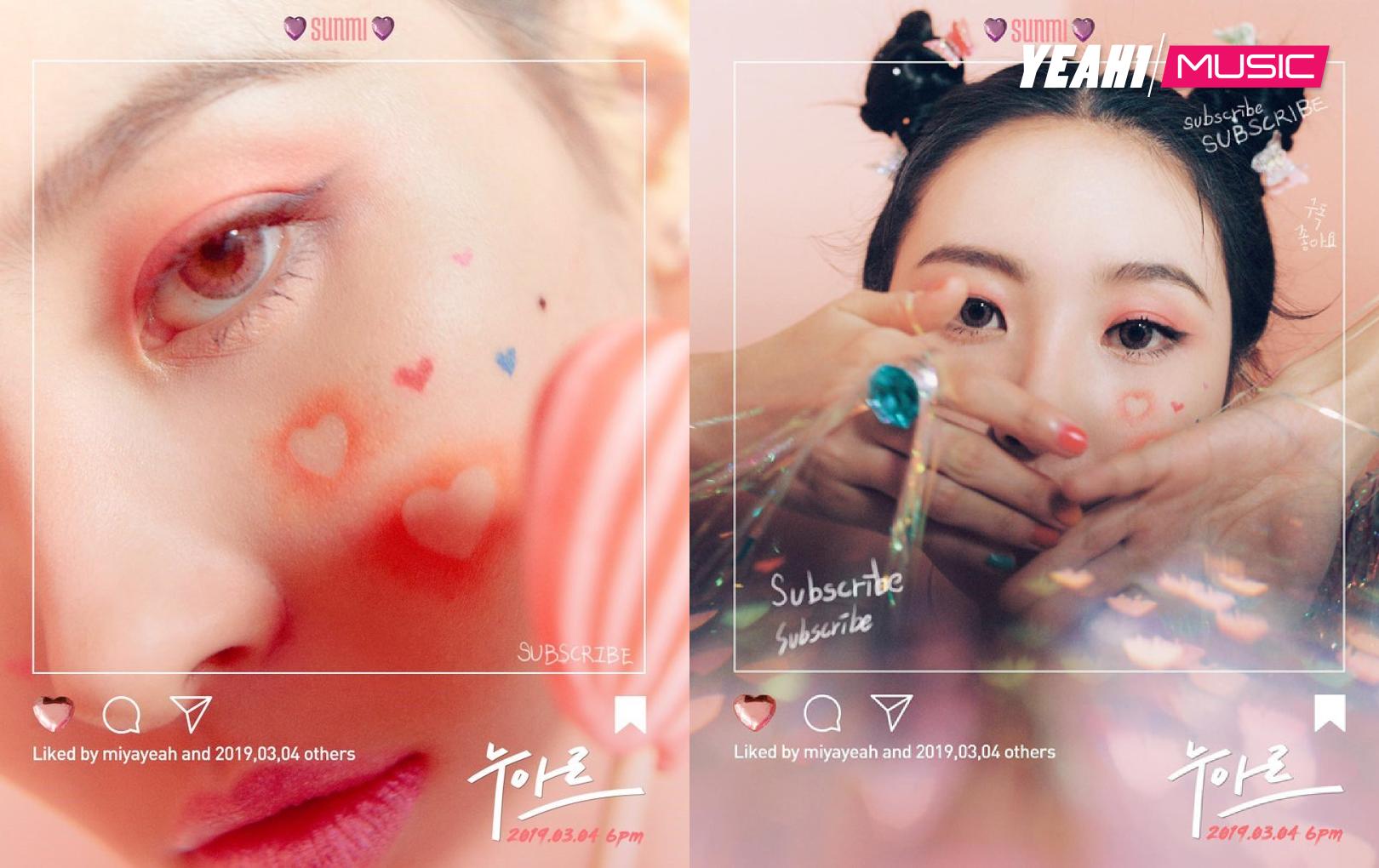 """""""Nữ hoàng gợi cảm"""" Sunmi tung teaser trở lại cực """"dị"""", dán sticker đầy mặt"""