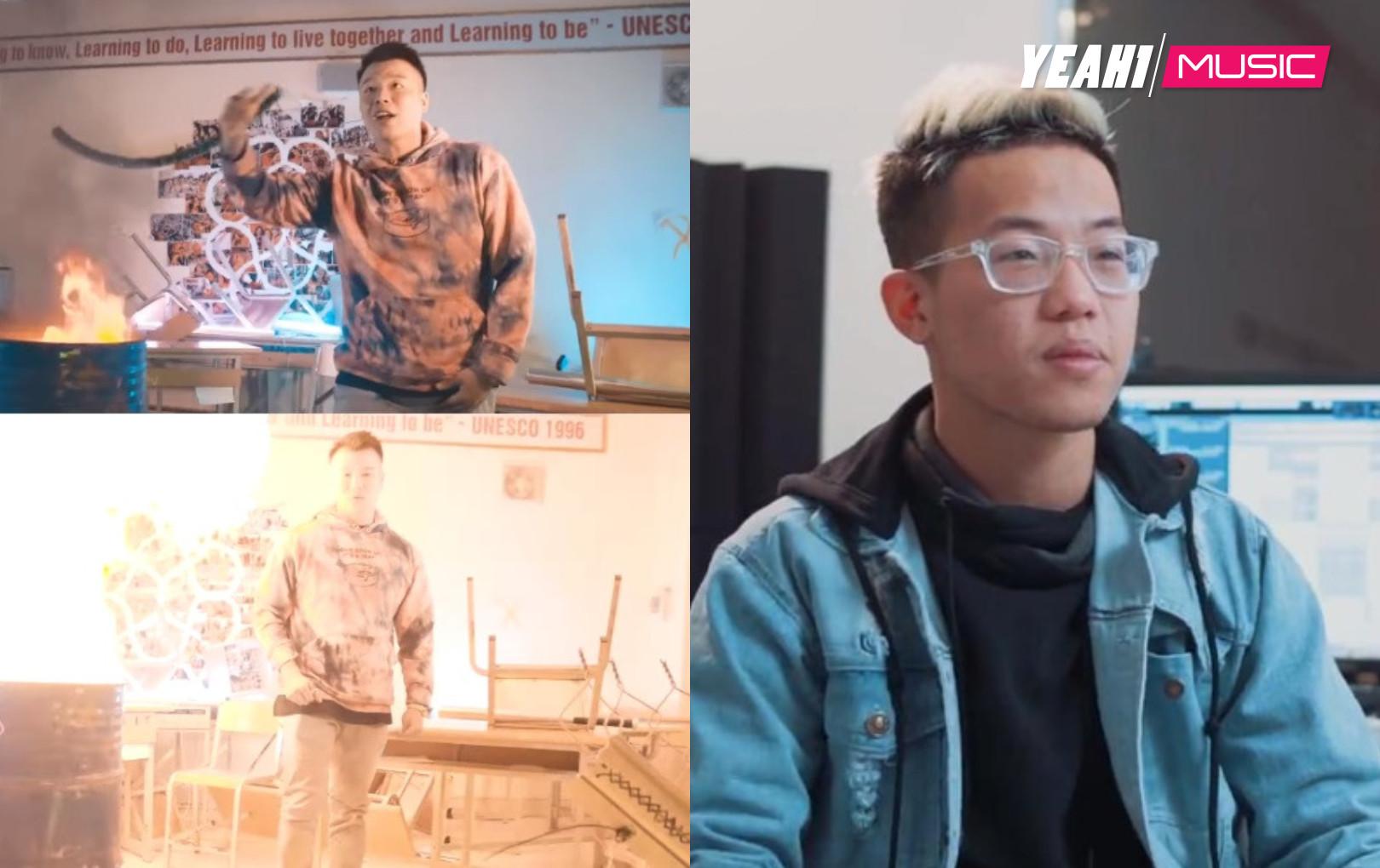 Rapper Richoi bị chỉ trích vì vào trường chuyên quay MV rồi tự ý đốt sách của học sinh