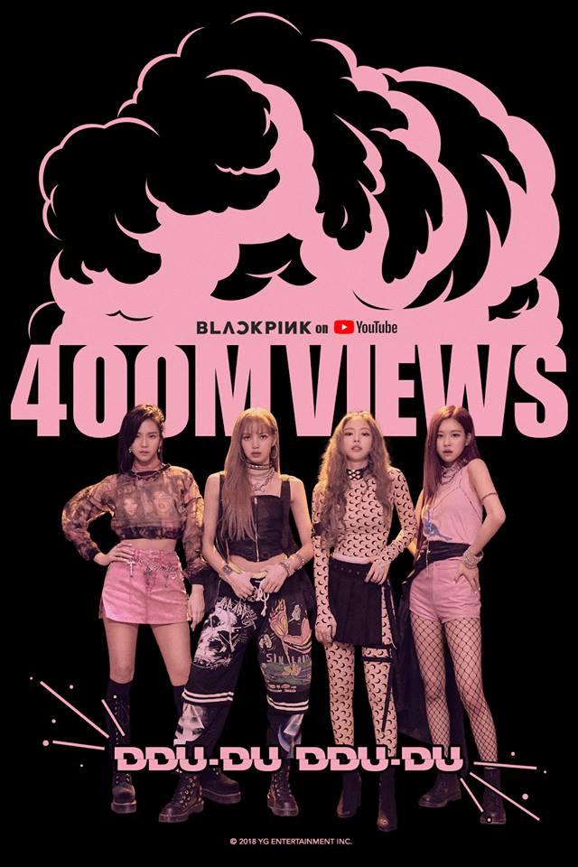 MV đạt 400 triệu view chỉ sau 3 tháng, BLACKPINK trở thành nữ hoàng Youtube của làng Kpop