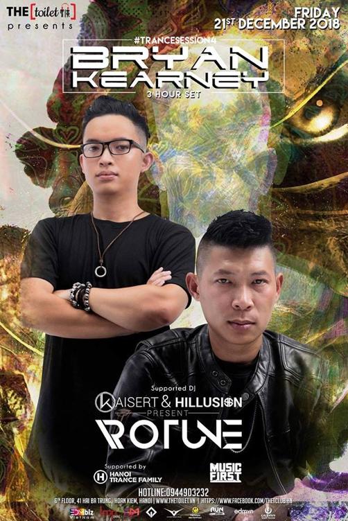 Các Trance lovers Hà Nội chuẩn bị bùng nổ cùng set nhạc đỉnh cao từ DJ nổi tiếng Bryan Kearney