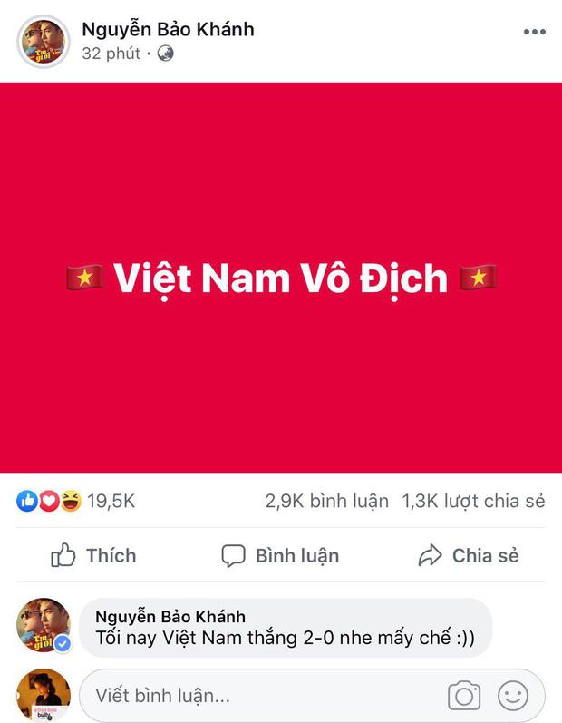 Loạt sao Việt nhuộm đỏ Facebook, hào hứng cổ vũ đội tuyển Việt Nam