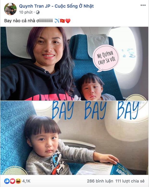 Bé Sa và mẹ Quỳnh Trần cập nhật hình ảnh trên máy bay về Việt Nam, fan hào hứng chờ ngày gặp mặt sao nhí