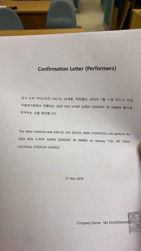 EXO-SC, NCT 127, Taemin sẽ tham gia đại nhạc hội tại SVĐ Mỹ Đình vào đầu năm 2020