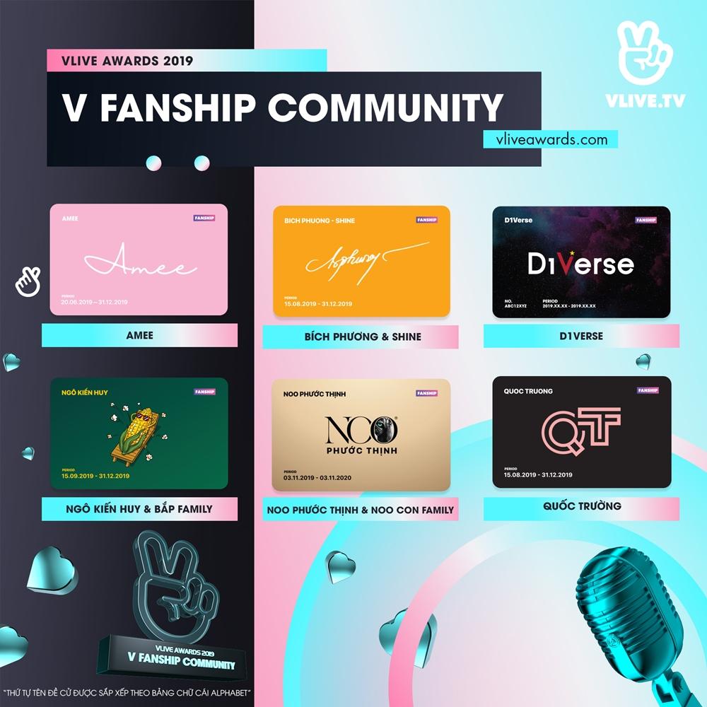 Ngô Kiến Huy, Chi Pu và loạt nghệ sĩ Việt được đề cử Vlive Awards 2019