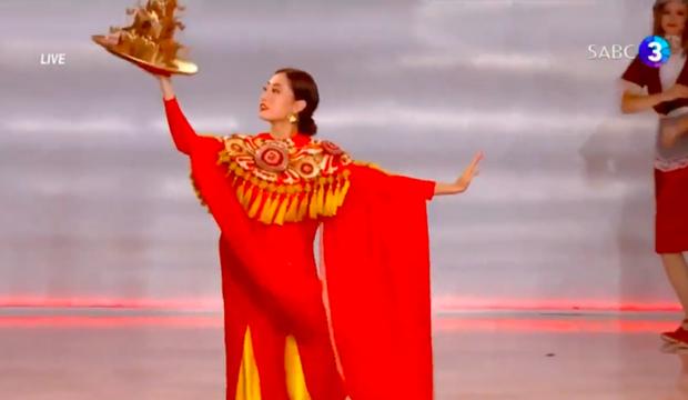 Lương Thùy Linh cực xuất sắc trong màn trình diễn múa mâm, lọt vào top 40 Miss World 2019