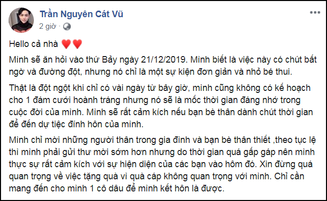 Tim đường đột thông báo làm lễ đính hôn sau 1 năm ly hôn Trương Quỳnh Anh