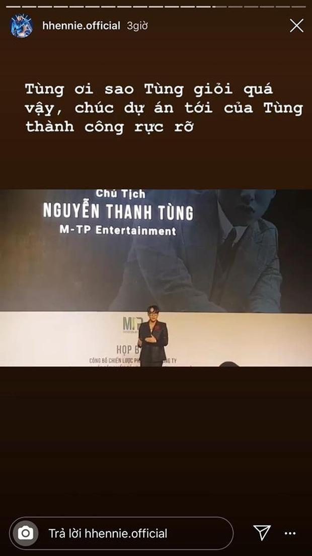 Sơn Tùng M-TP vừa công bố dự án khủng, HHen Niê lập tức công khai ủng hộ đúng kiểu fan cứng