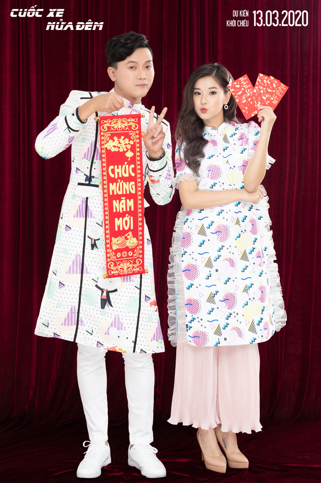 """Cặp đôi """"Cuốc xe nửa đêm"""" Hoàng Yến Chibi - Quách Ngọc Tuyên tung bộ ảnh sang-xịn-mịn đón Tết Canh Tý"""