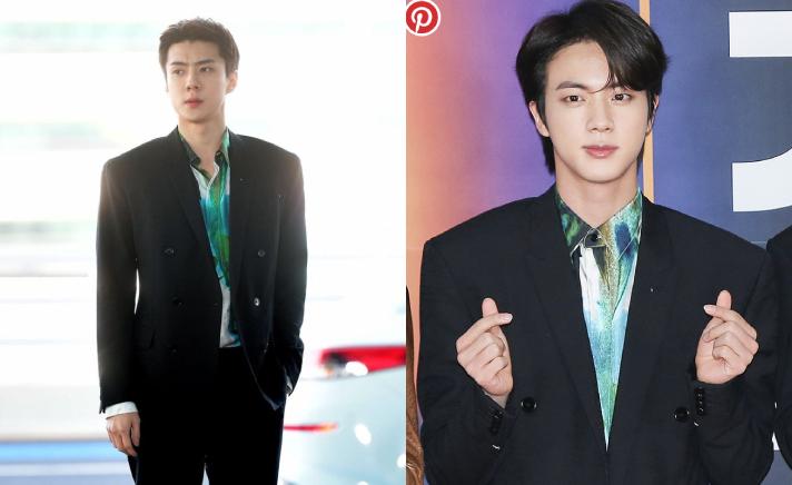 Đụng hàng với Jin (BTS), Sehun (EXO) bị chê ăn mặc kém sang dù sở hữu bờ vai rộng như Thái Bình Dương