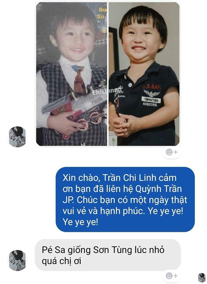 Phát hiện bé Sa là bản sao thất lạc lúc nhỏ của Sơn Tùng M-TP, Quỳnh Trần JP bình luận hài hước