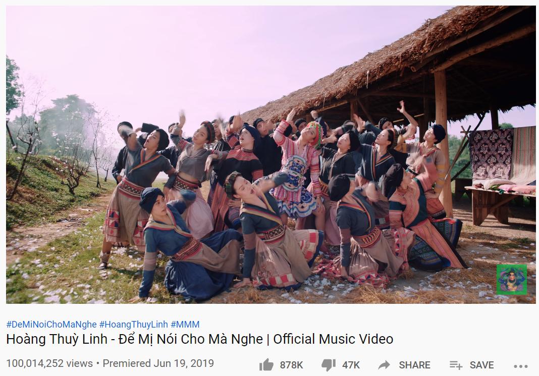 Hoàng Thùy Linh đón tin vui đầu năm: MV Để Mị nói cho mà nghe cán mốc 100 triệu lượt xem