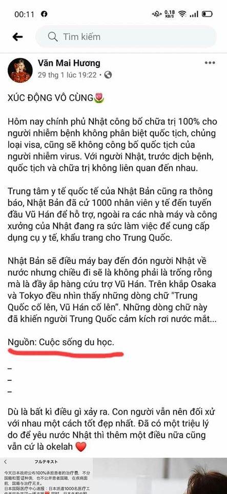Cát Phượng vừa bị sờ gáy vì  thông tin sai lệch dịch Corona thế mà Văn Mai Hương vẫn chưa rút được kinh nghiệm ?