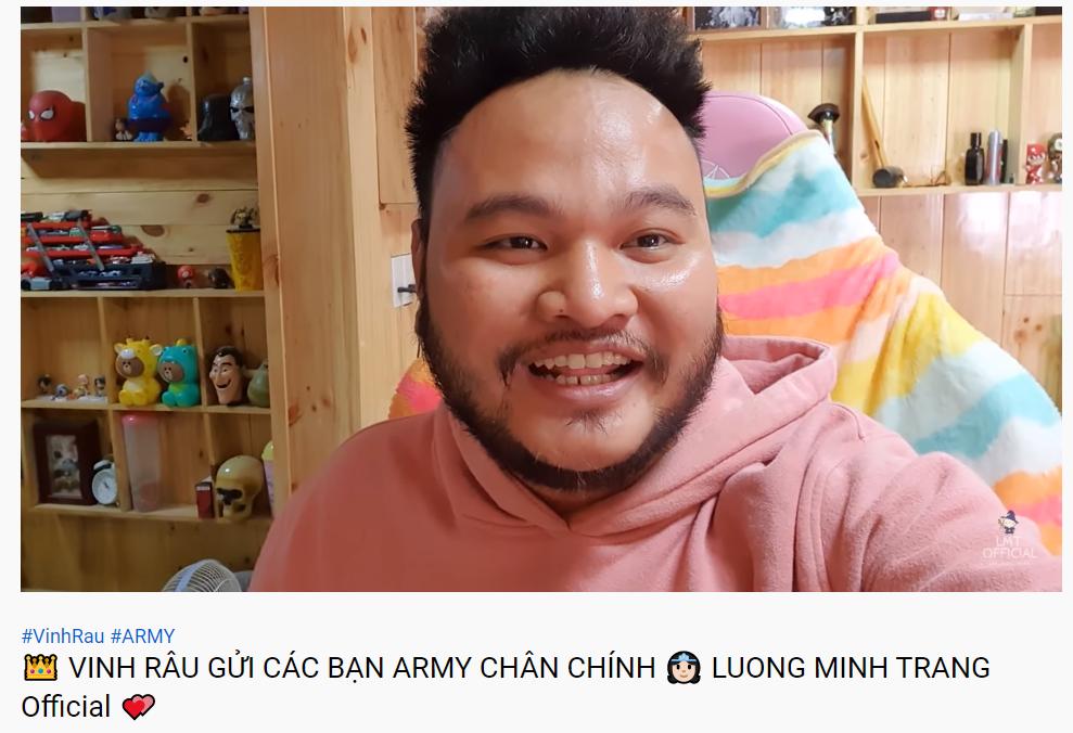 Vinh Râu đăng video giải thích và xin lỗi sau phát ngôn gây tranh cãi về BTS