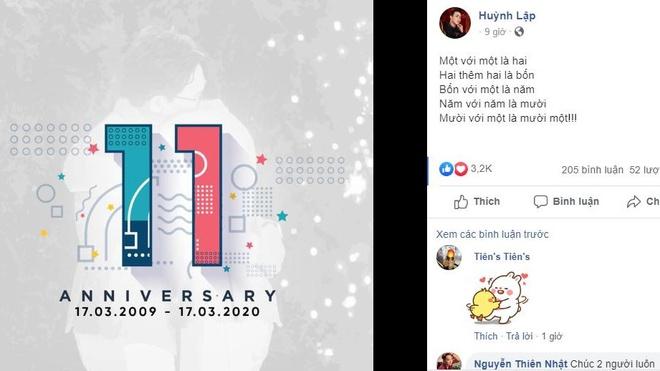 Huỳnh Lập và Hồng Tú kỷ niệm 11 năm bên nhau khiến nhiều người ghen tị
