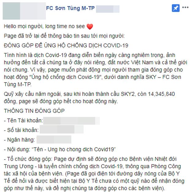 Cộng đồng fan của Sơn Tùng dốc cạn túi ủng hộ dịch Covid-19, chưa bao giờ các fandom lại đoàn kết thế này