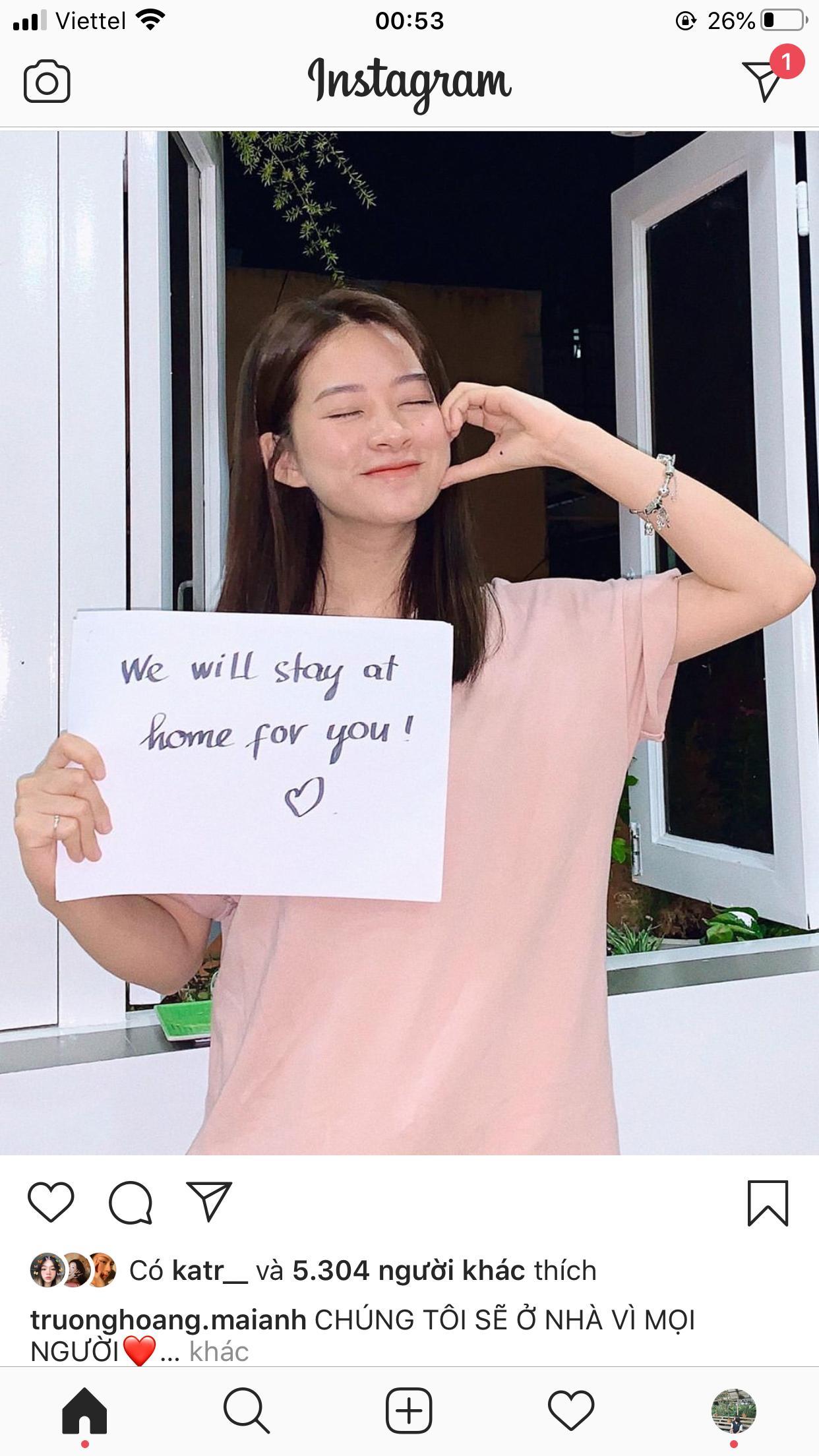 Loạt sao Việt đồng loạt lan tỏa thông điệp Ở nhà là yêu nước