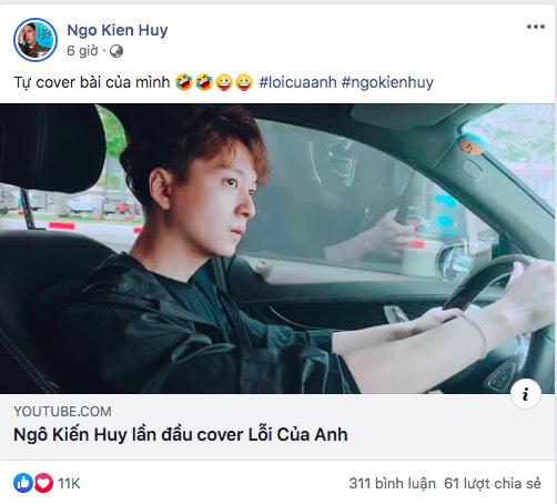 Xuất hiện trai đẹp giấu mặt khiến fan nườm nượp công nhận cover Lỗi Của Anh hay hơn cả Ngô Kiến Huy, nhưng nhìn lại thì thấy sai sai?