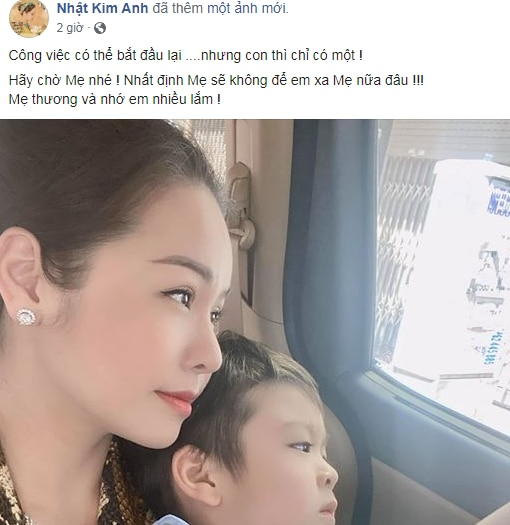 Nghe tin chồng cũ đòi kháng cáo, Nhật Kim Anh khẳng định: Nhất định sẽ khong để con xa mẹ nữa đâu