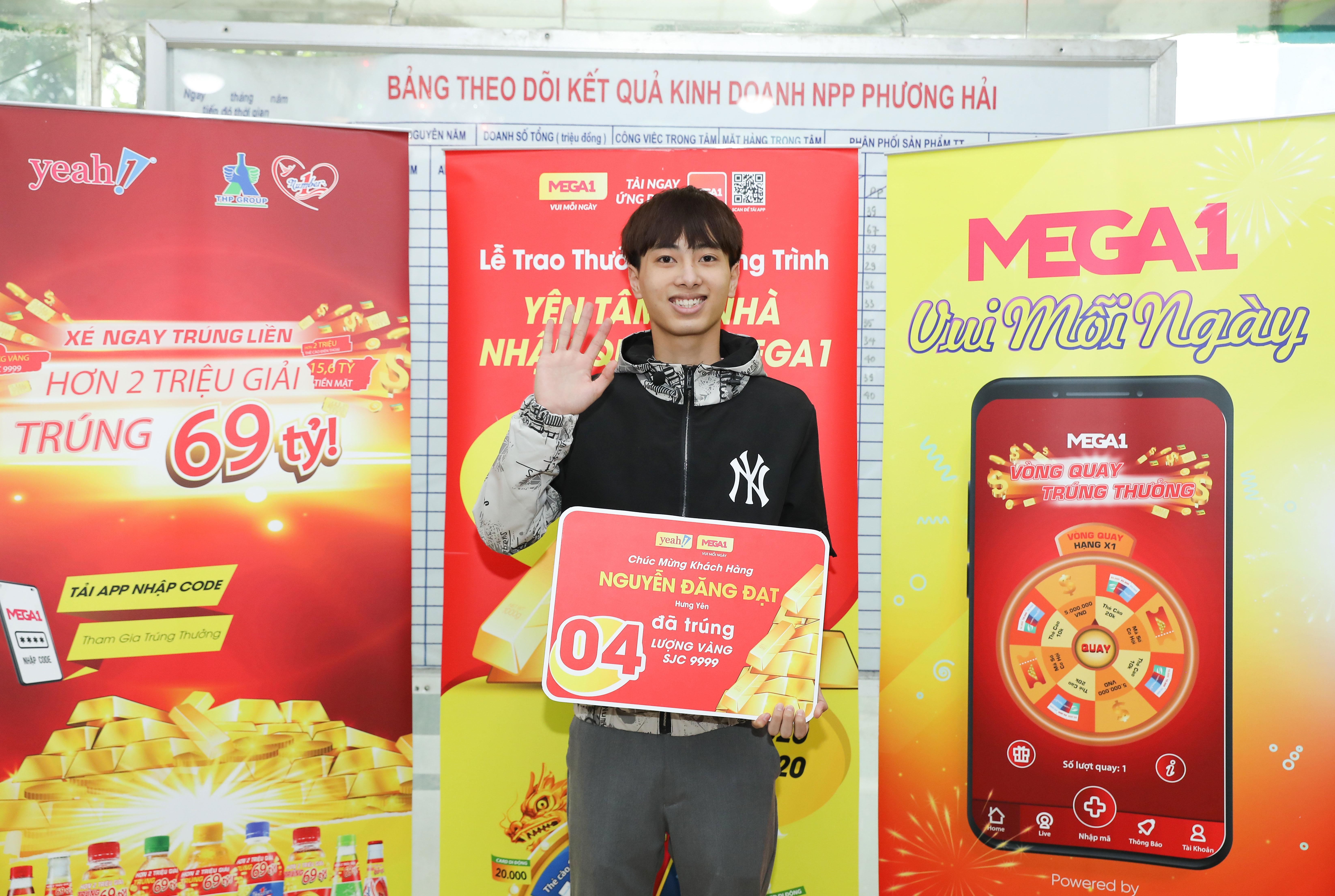 """Lộ diện khách hàng 19 tuổi trúng 4 lượng vàng trị giá hơn 180 triệu đồng khi tham gia chương trình """"Yên tâm ở nhà - Nhận quà từ MEGA1"""""""