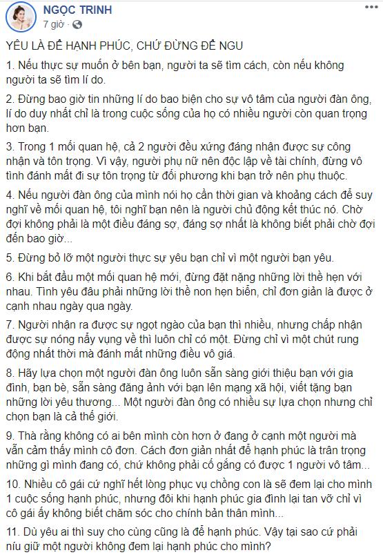 Ngọc Trinh đăng ảnh chụp cùng Hari Won kèm tuyên bố: Yêu là để hạnh phúc chứ đừng để ngu