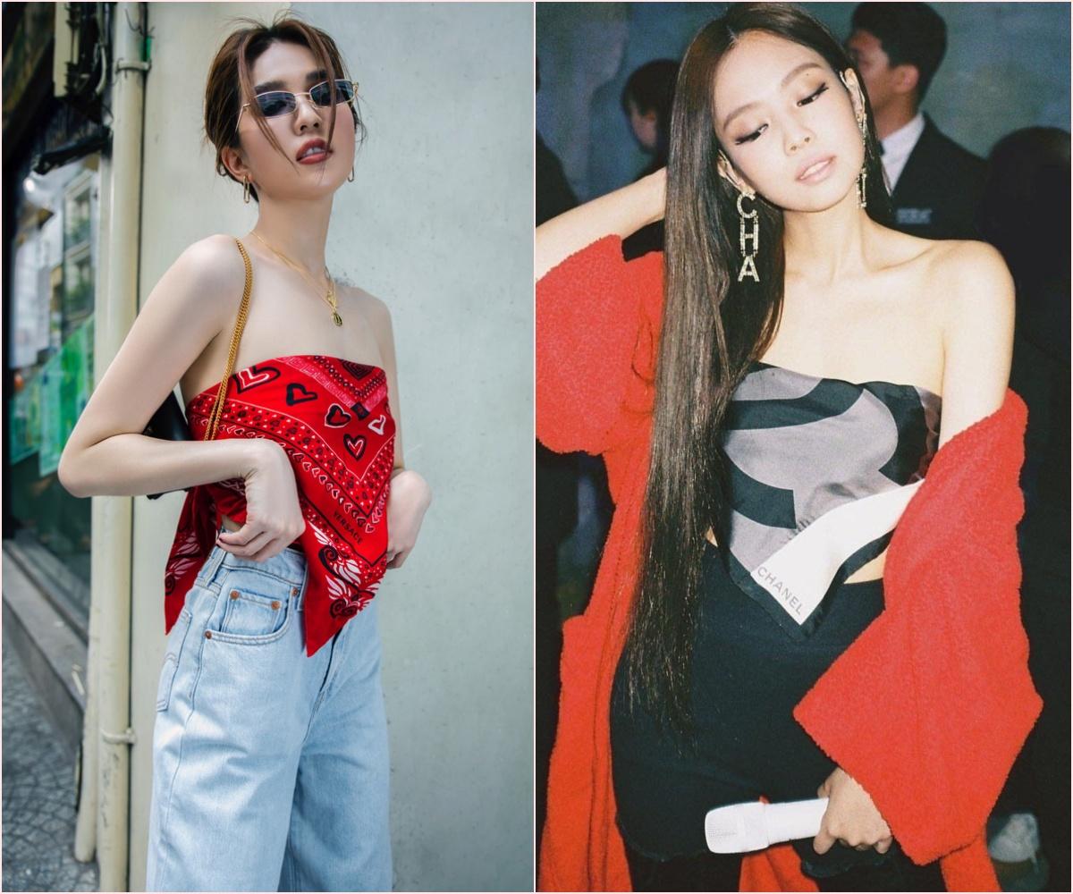 Ngọc Trinh học tập Jennie lấy khăn làm áo: Liệu thần thái có đủ lấn át thành viên BLACKPINK?