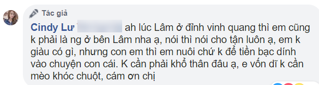Bảo Ngọc ngầm hé lộ nguyên nhân ly hôn, khẳng định không đòi chu cấp 1 đồng nào từ Hoài Lâm