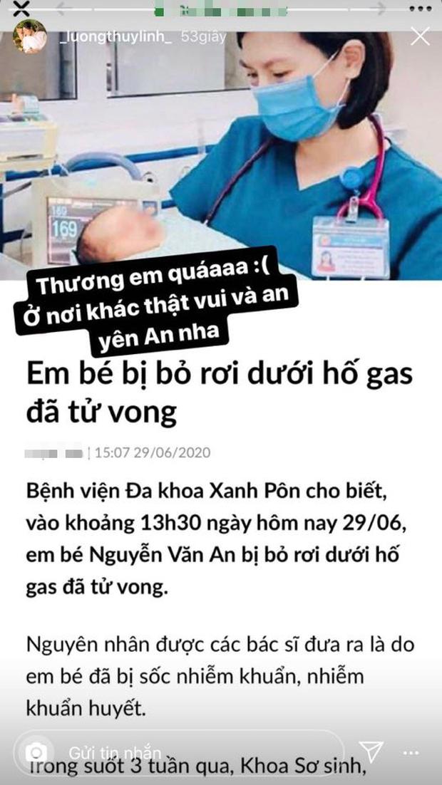Lương Thùy Linh, Đỗ Mỹ Linh đau xót khi hay tin bé sơ sinh bị bỏ rơi ở hố gas qua đời