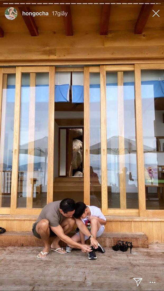 Hà Hồ khoe ảnh gia đình du lịch sang chảnh, bố dượng Kim Lý chiếm trọn spotlight vì đặc biệt chăm sóc Subeo