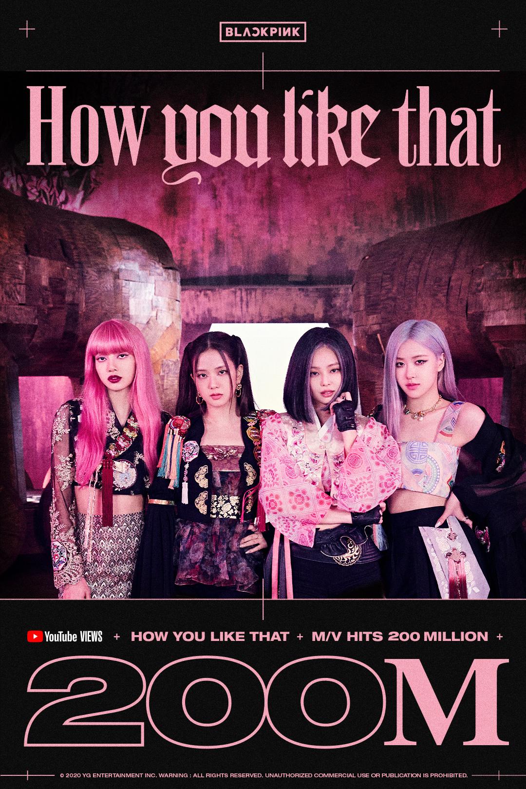 MV How You Like That của BLACKPINK đạt 200 triệu views, thời gian cán mốc nhanh đến ngỡ ngàng